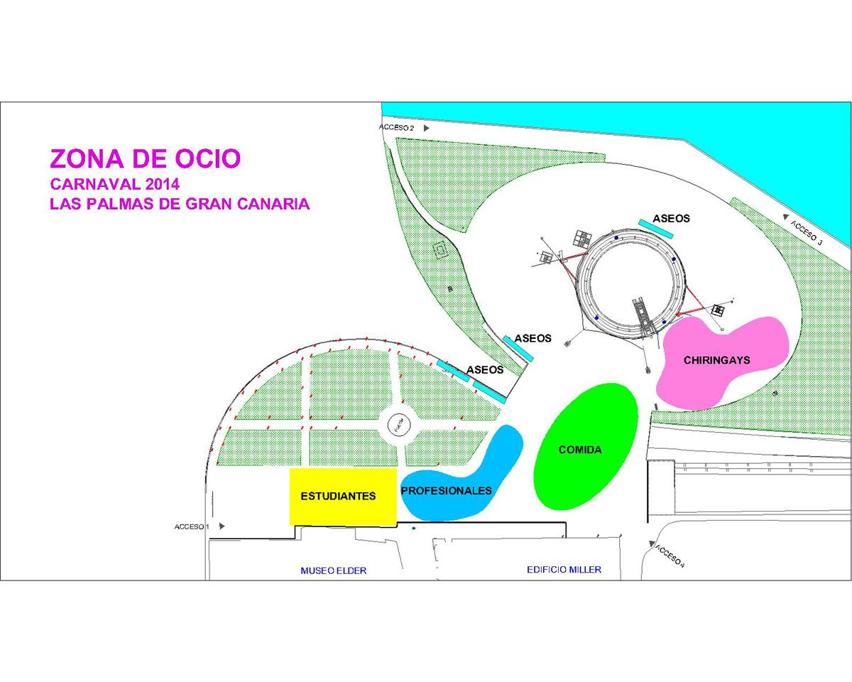 La zona de ocio del Carnaval 2014 regresa a la plaza de Canarias