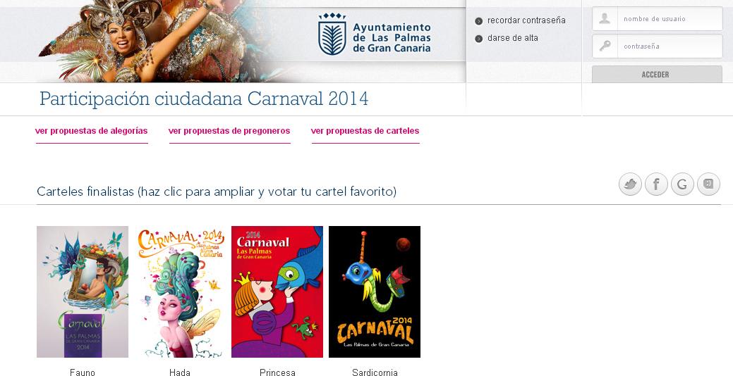 El Jurado del cartel del Carnaval 2014 retira una propuesta finalista por vulnerar las bases del concurso