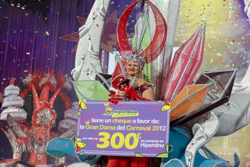 Carmen Suárez, Gran Dama del Carnaval del Cómic 2012