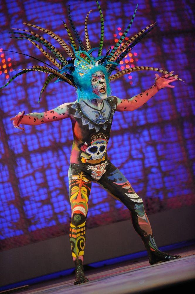 La fantasía Mar y Cultureta de Toni Guerrero, mejor maquillaje corporal del Carnaval 2011