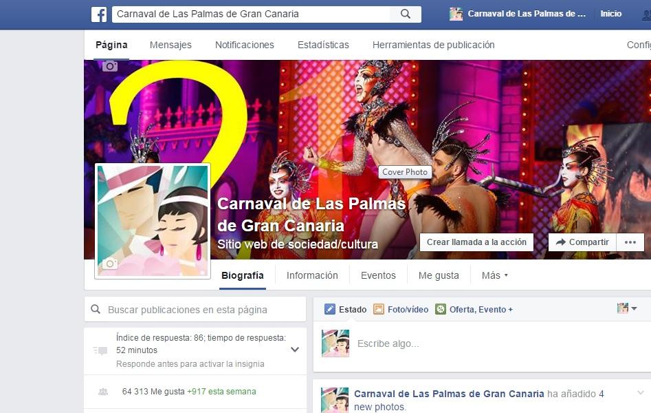 El Carnaval de Las Palmas de Gran Canaria se posiciona como líder en Facebook entre las fiestas populares en España