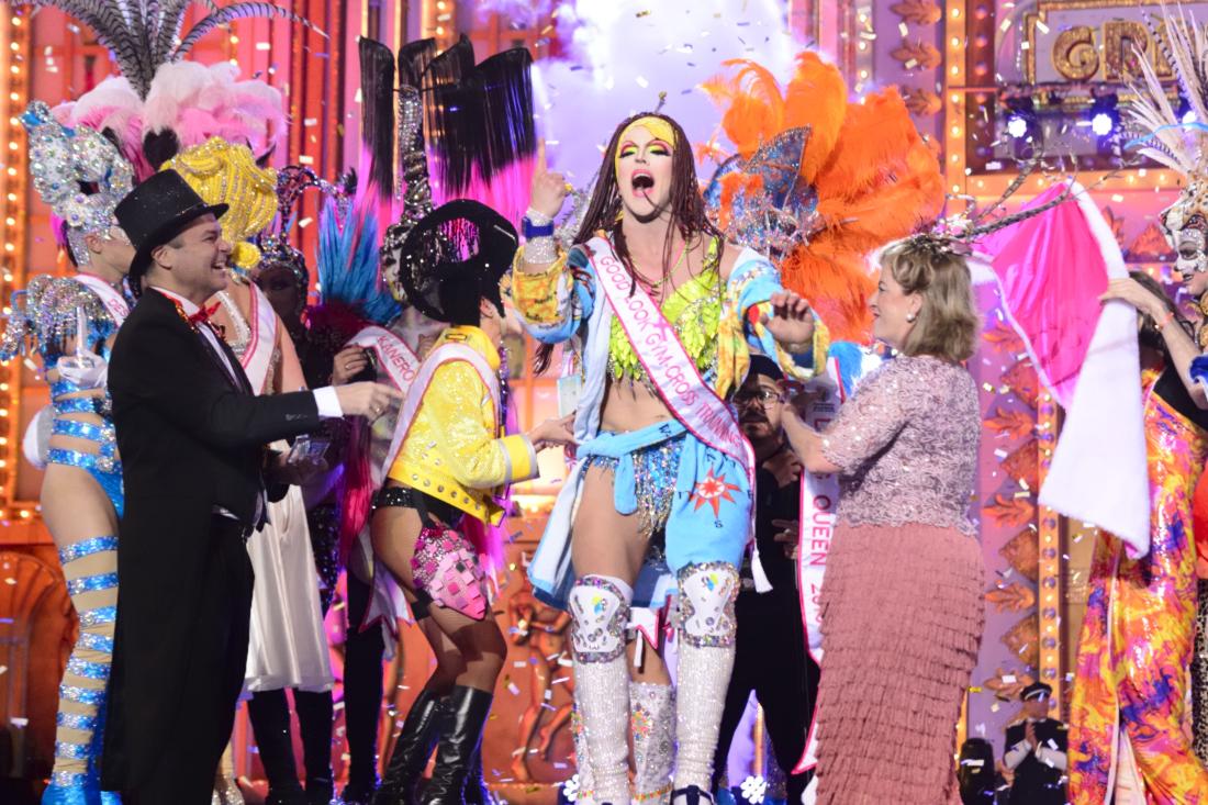 El humor de Grimassira Maeva vuelve a triunfar en la Gala Drag Queen del Carnaval de Las Palmas de Gran Canaria
