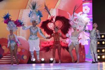 Kisamba, comparsa ganadora del Primer Premio de Vestuario e Interpretación del Carnaval de la Eterna primavera