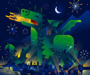 Un dragón gigante custodiará el Carnaval dedicado a la magia y a las criaturas fantásticas