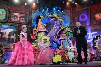 Jennifer de Filippis, con un diseño de Rafael Déniz, se alza con el título de Reina Infantil del Carnaval dedicado a la Magia y las criaturas fantásticas