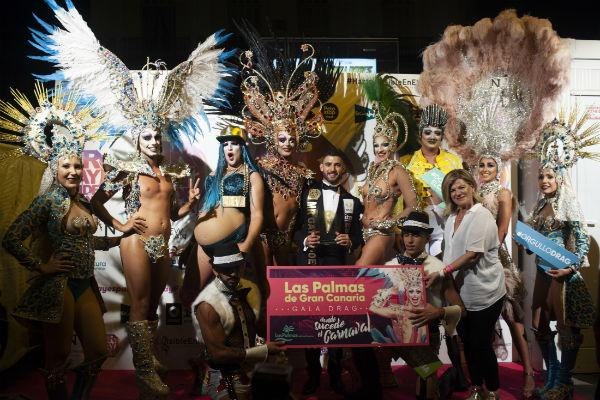 La Reina y las drags del Carnaval de Las Palmas de Gran Canaria brillan en la Puerta del Sol