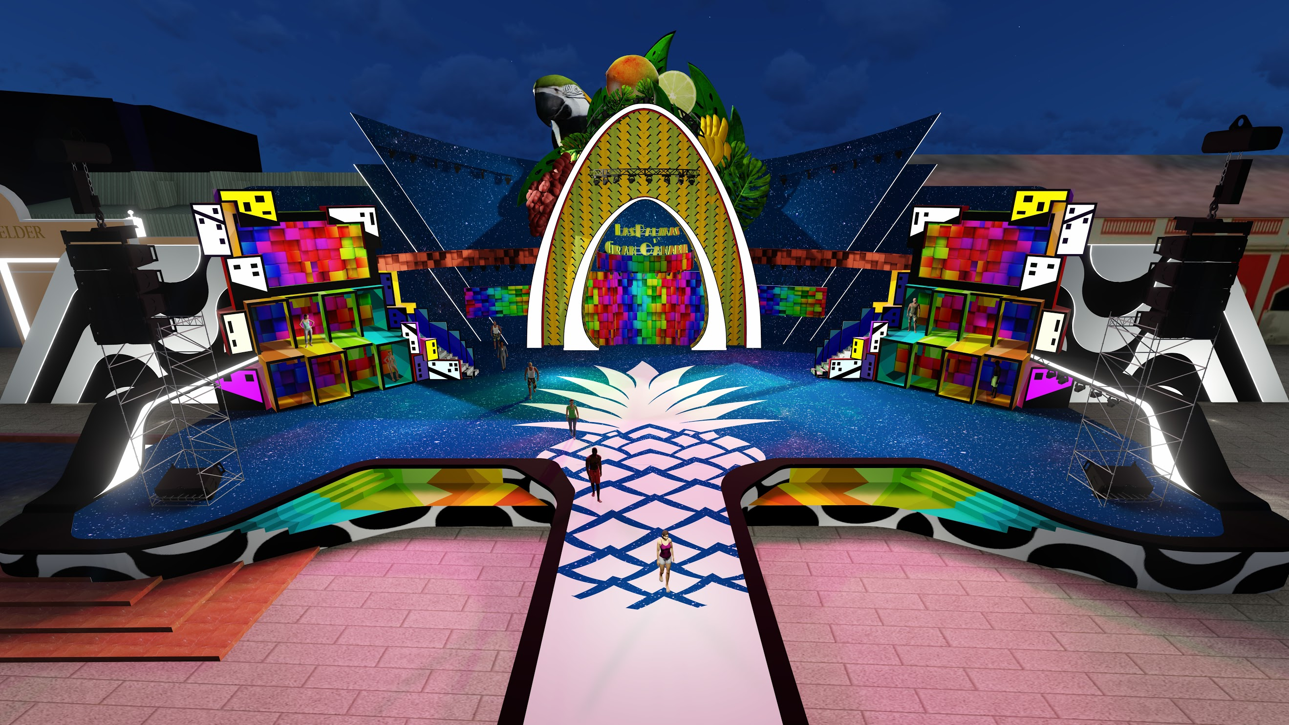 Color, naturaleza y arquitectura unen Las Palmas de Gran Canaria y la ciudad carioca en el escenario del Carnaval de «Una noche en Río»