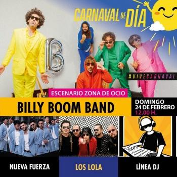 Horarios de actuaciones musicales del primer fin de semana de Carnaval de día