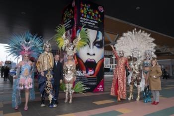 La madrileña plaza de Castilla, escaparate del Carnaval de Las Palmas de Gran Canaria