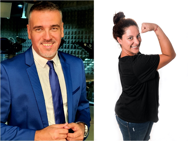 Omayra Cazorla e Ibán Padrón, humor y tablas en la gran competición de las plataforma